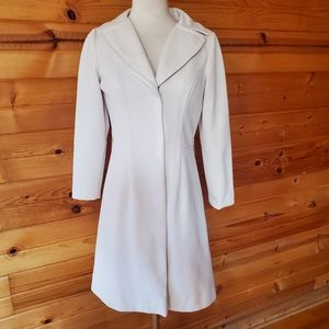 1960s/70s Alfred Weber Ivory, Ribbed Polyester Bla